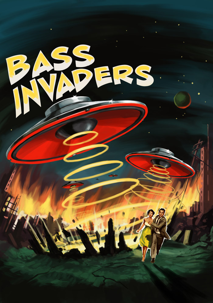 Bass Invaders by The Red Dress